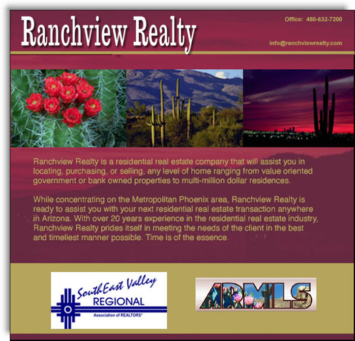 Ranchview Realty Ad